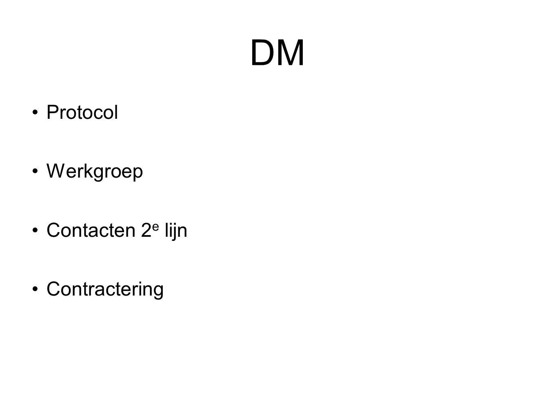 DM Protocol Werkgroep Contacten 2 e lijn Contractering