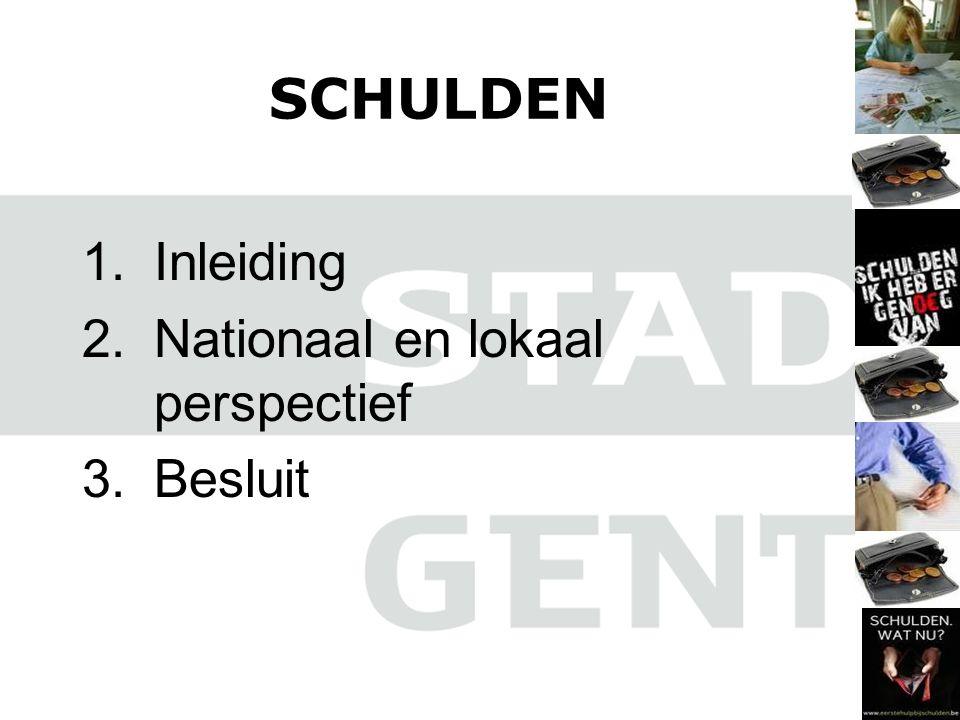 1.Inleiding 2.Nationaal en lokaal perspectief 3.Besluit SCHULDEN