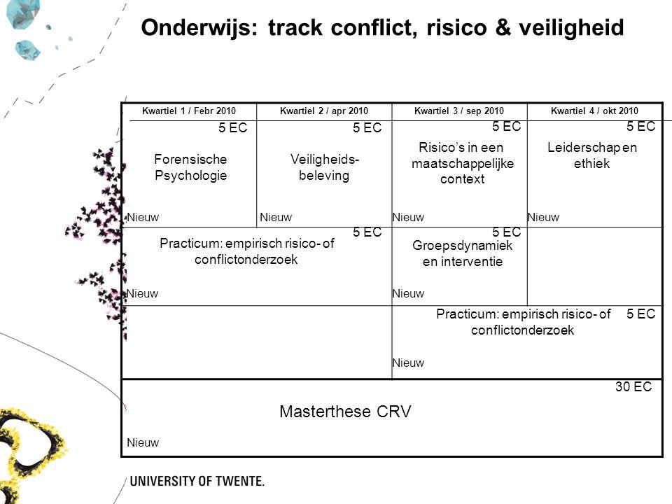 Kwartiel 1 / Febr 2010Kwartiel 2 / apr 2010Kwartiel 3 / sep 2010Kwartiel 4 / okt 2010 5 EC Forensische Psychologie Veiligheids- beleving Risico's in e