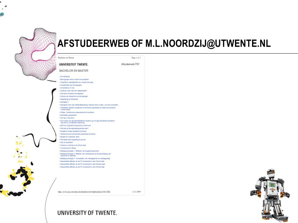58 AFSTUDEERWEB OF M.L.NOORDZIJ@UTWENTE.NL