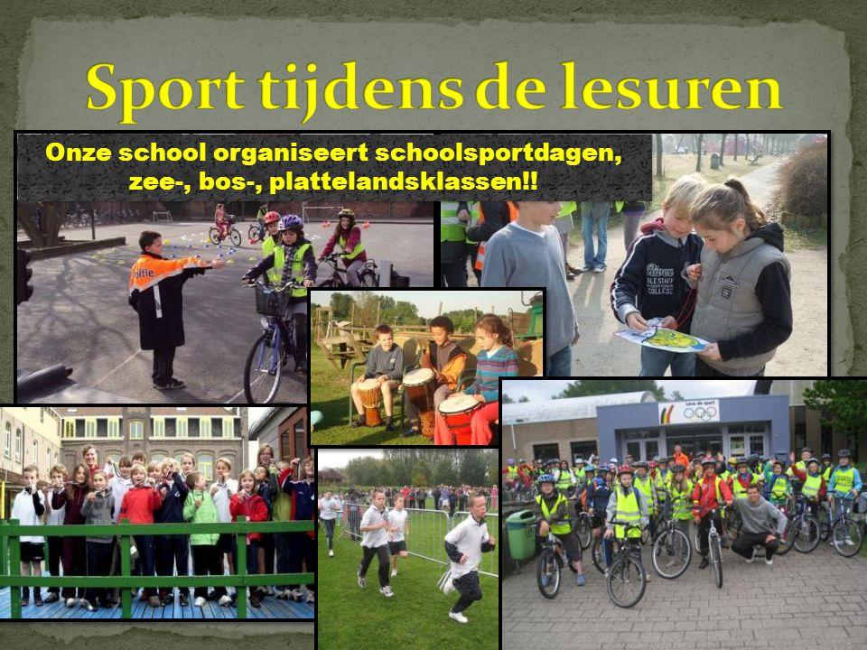 Onze school organiseert schoolsportdagen, zee-, bos-, plattelandsklassen!!