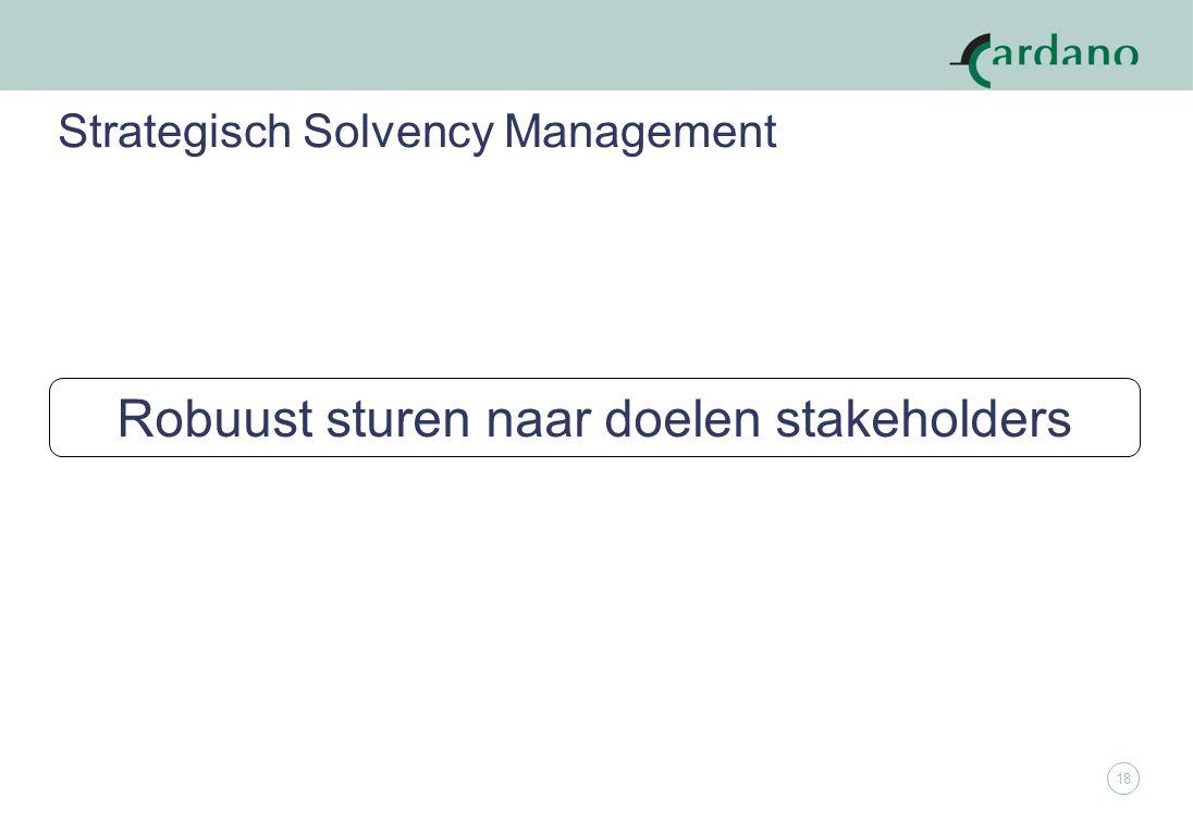 18 Strategisch Solvency Management Robuust sturen naar doelen stakeholders