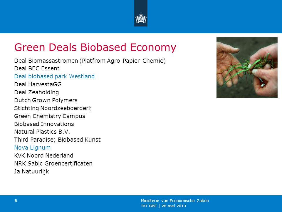 TKI BBE   28 mei 2013 Ministerie van Economische Zaken 9 Meer info.