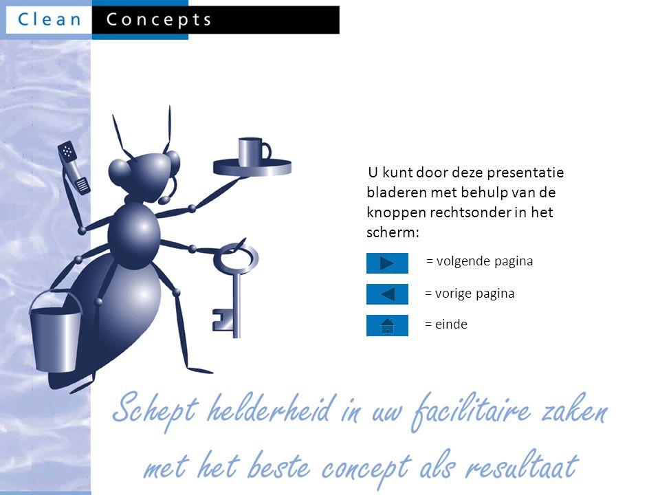 U kunt door deze presentatie bladeren met behulp van de knoppen rechtsonder in het scherm: = volgende pagina = vorige pagina = einde