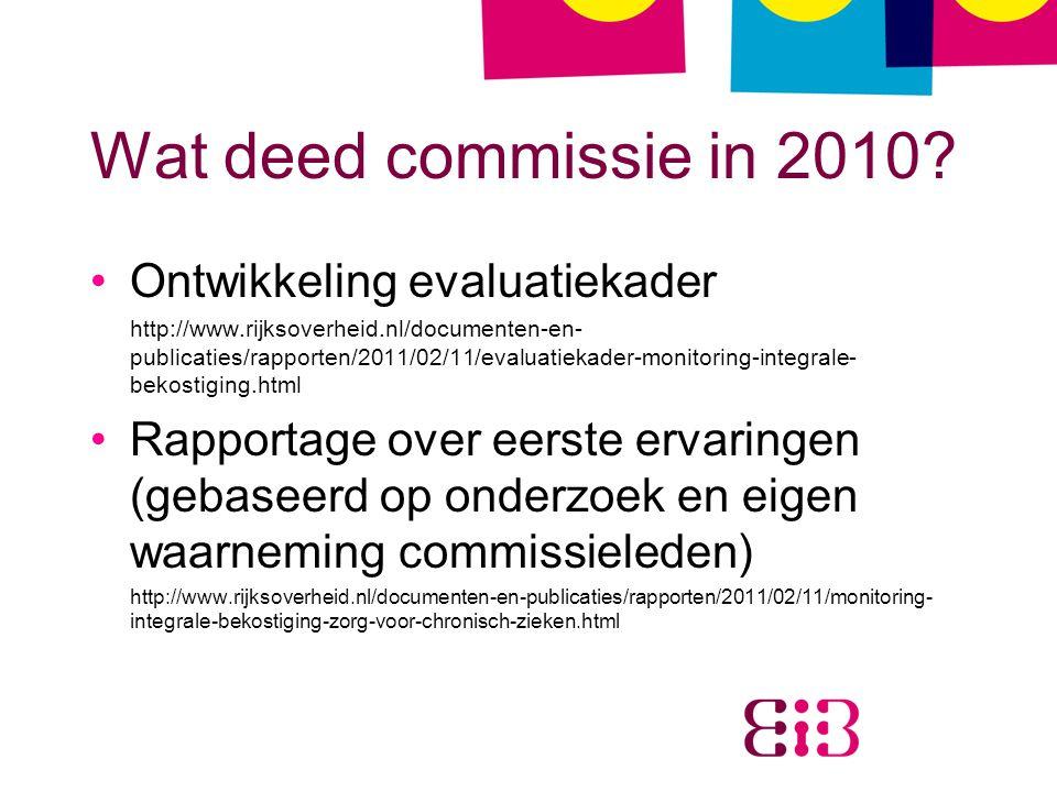 Wat deed commissie in 2010.