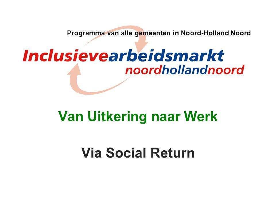 Van Uitkering naar Werk Via Social Return Programma van alle gemeenten in Noord-Holland Noord
