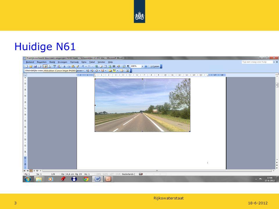 Rijkswaterstaat 318-6-2012 Huidige N61