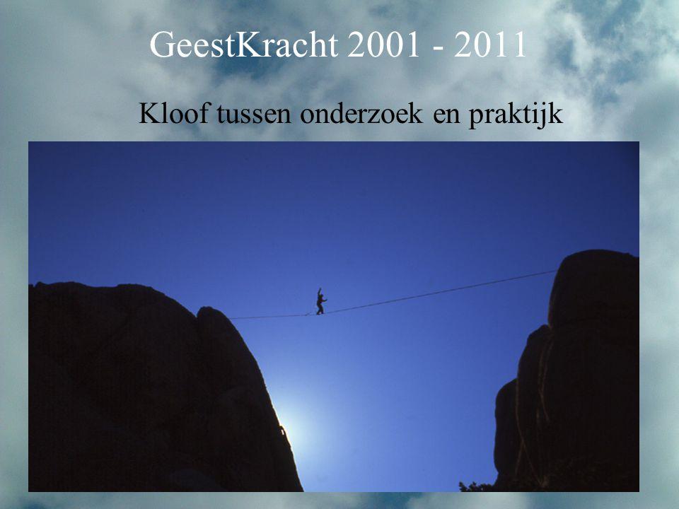 Kloof tussen onderzoek en praktijk GeestKracht 2001 - 2011