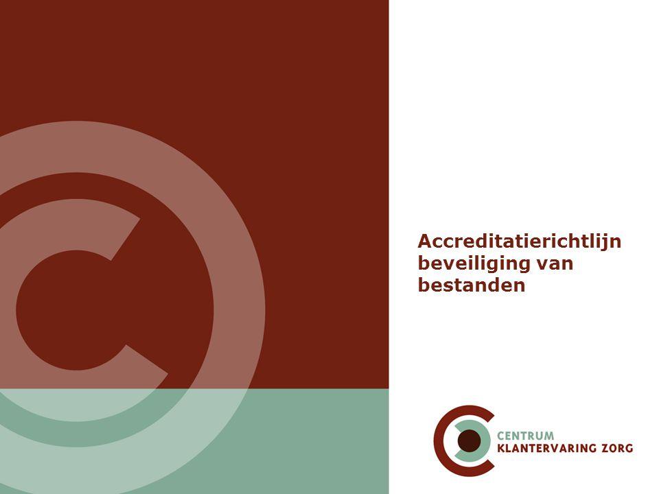 Accreditatierichtlijn beveiliging van bestanden