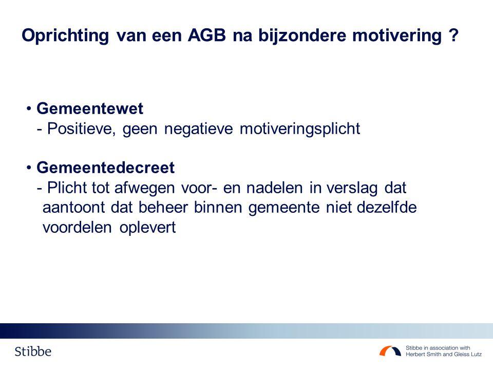 Transacties tussen Gemeente en AGB Overheidsopdrachten & gelijkheid vs.