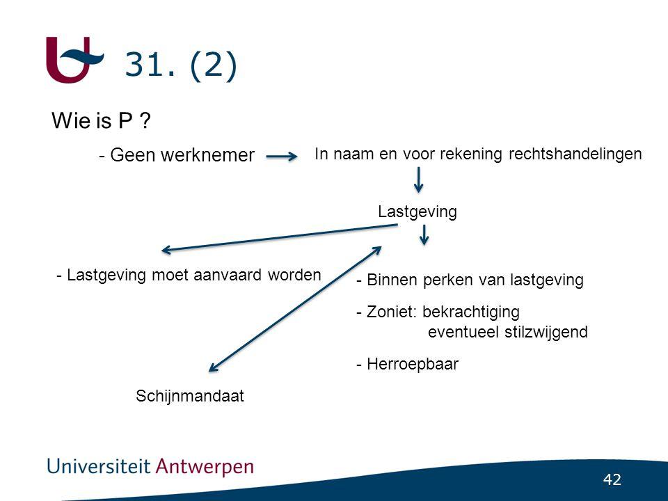 42 31.(2) Wie is P .