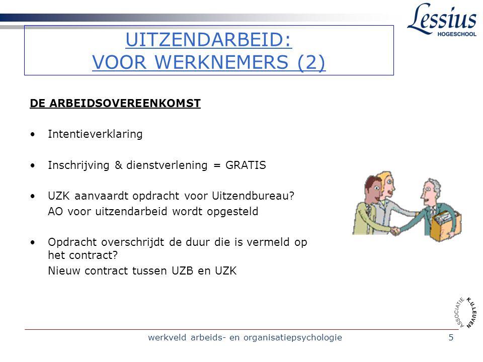 werkveld arbeids- en organisatiepsychologie16 CASUS A p.12 Kan mag Ludo beide opdrachten (zie casus A p.
