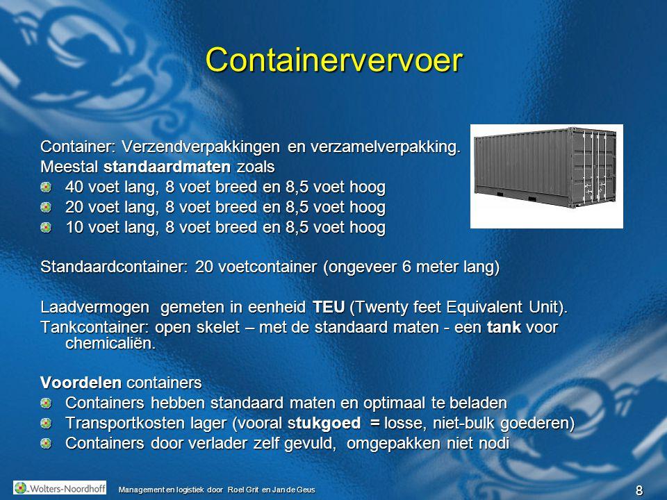 9 Management en logistiek door Roel Grit en Jan de Geus Pallets Stapelen dozen, kratten enz.
