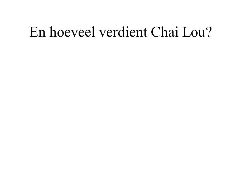 En hoeveel verdient Chai Lou?