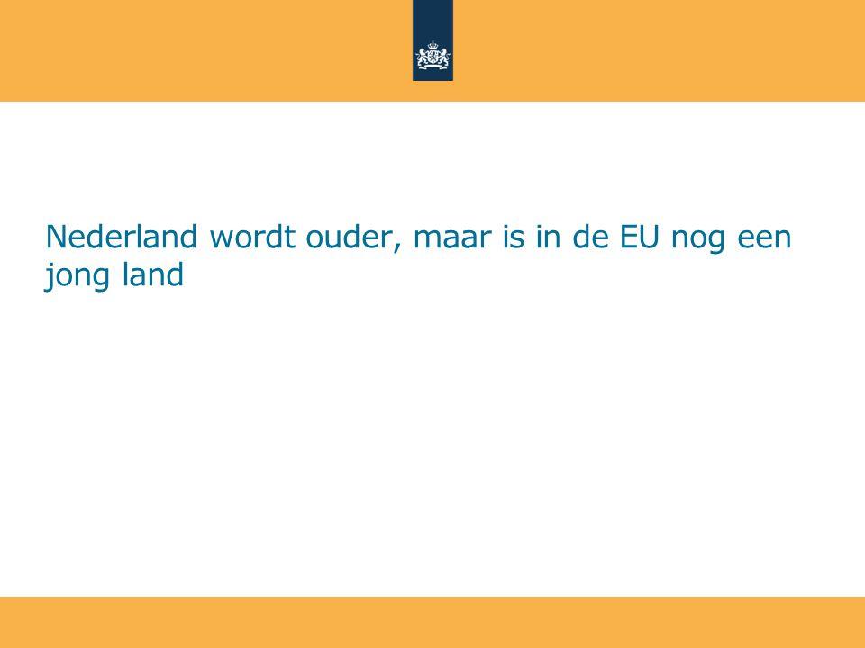 Nederland wordt ouder, maar is in de EU nog een jong land