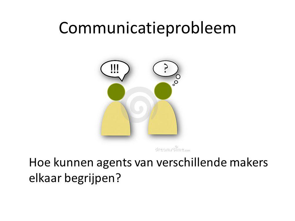 Communicatieprobleem Hoe kunnen agents van verschillende makers elkaar begrijpen