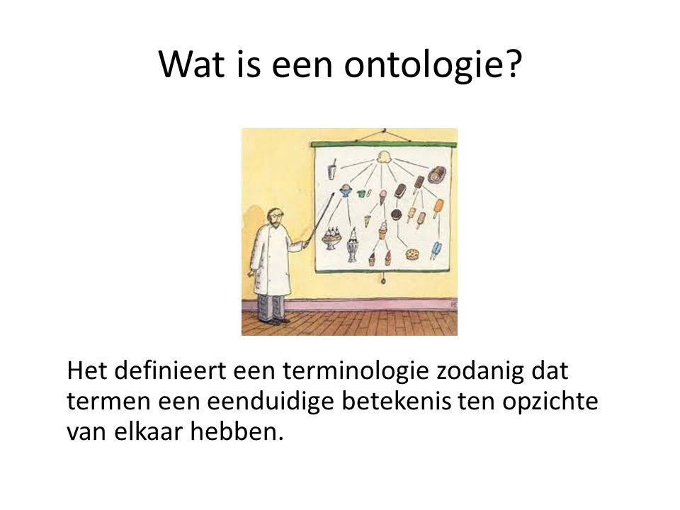 Wat is een ontologie.