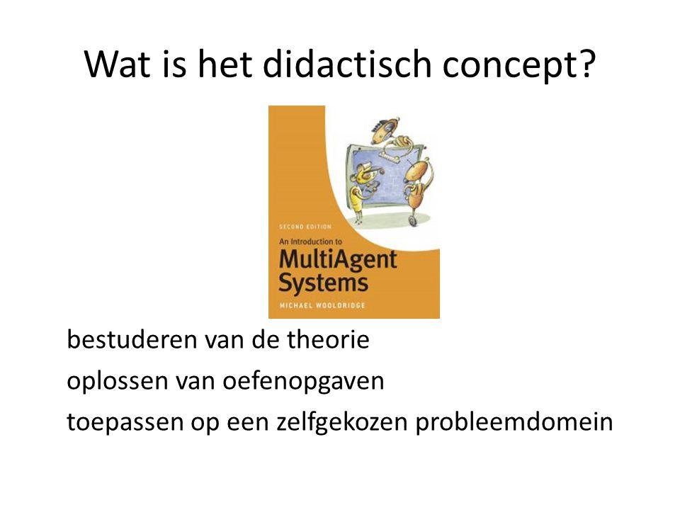 Wat is het didactisch concept.