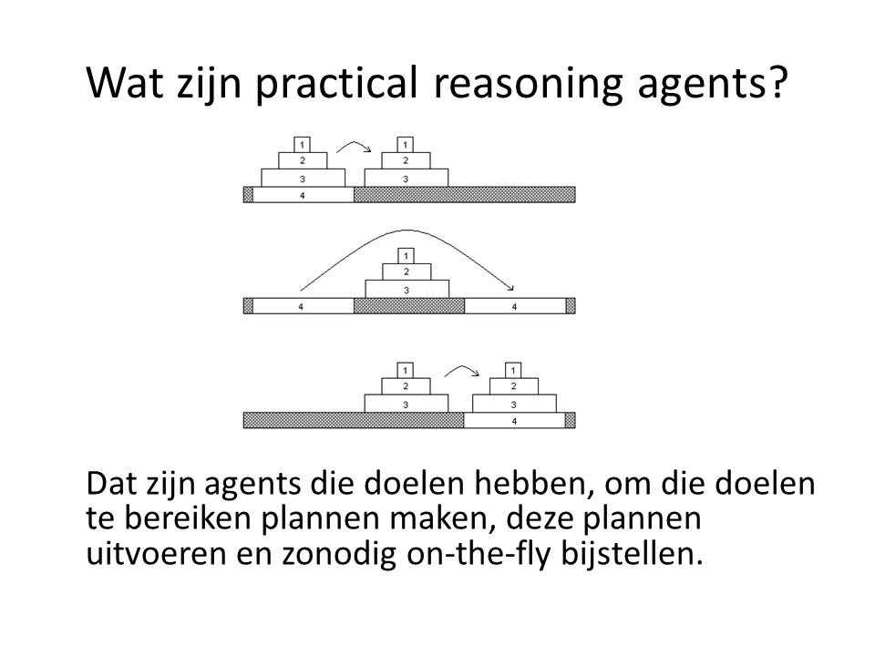 Wat zijn practical reasoning agents.