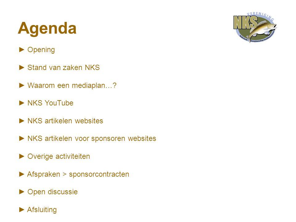 Agenda ► Opening ► Stand van zaken NKS ► Waarom een mediaplan….