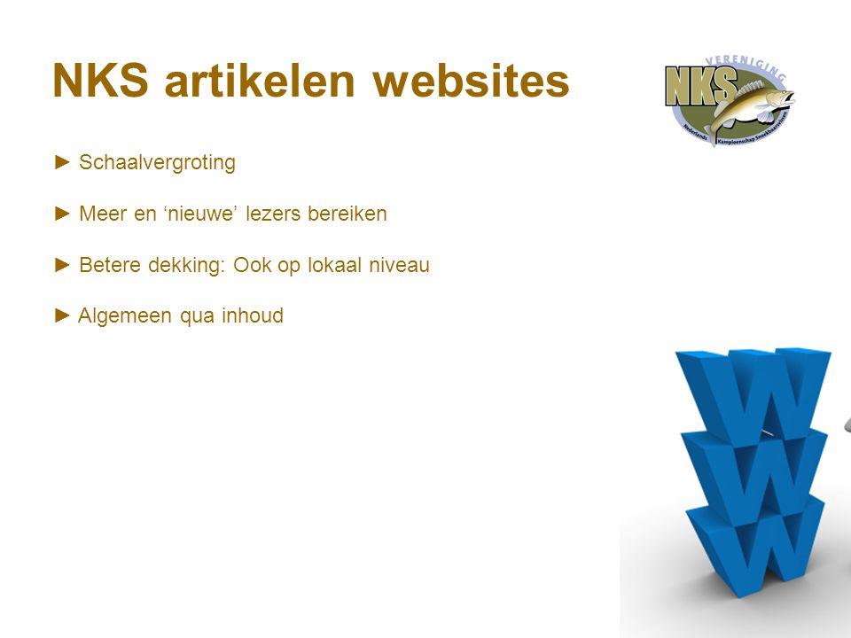 NKS artikelen websites ► Schaalvergroting ► Meer en 'nieuwe' lezers bereiken ► Betere dekking: Ook op lokaal niveau ► Algemeen qua inhoud