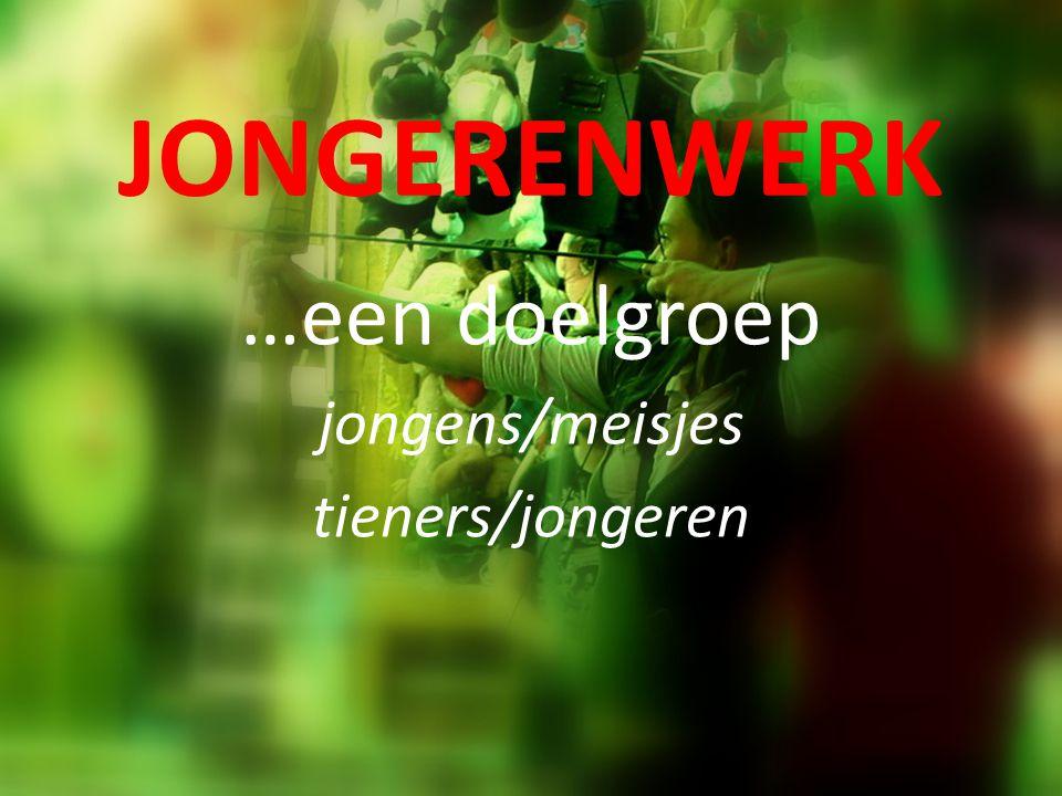 JONGERENWERK …een doelgroep jongens/meisjes tieners/jongeren