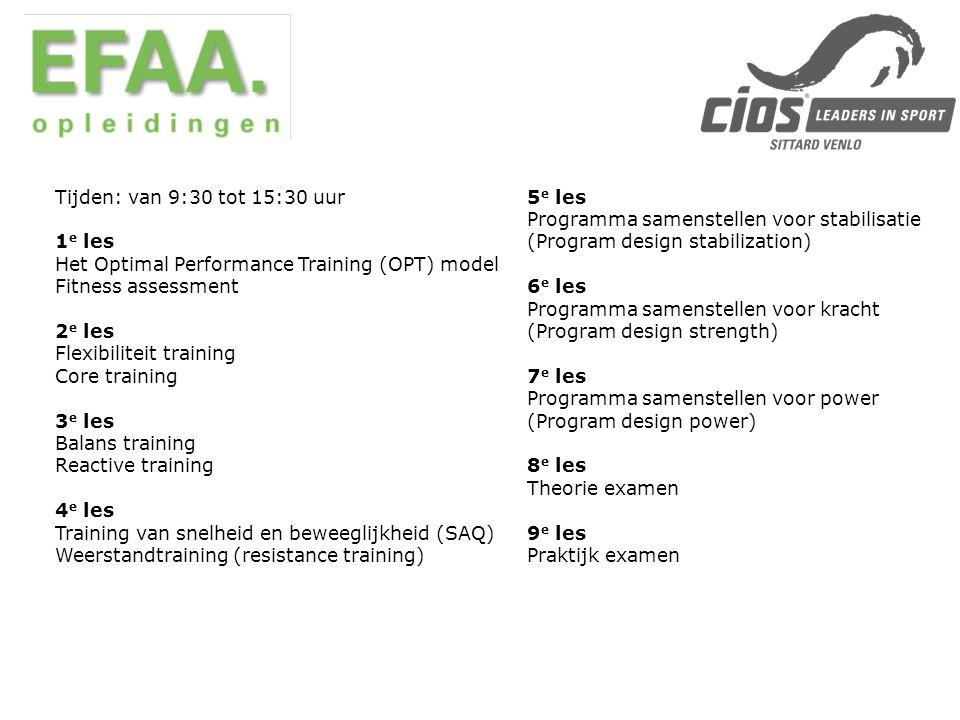 - Totaal programma kost € 2655,- - Sportcentrum ontvangt 100% subsidie via de Wet Vermindering Afdracht voor (beroeps)onderwijs, afgekort WVA.