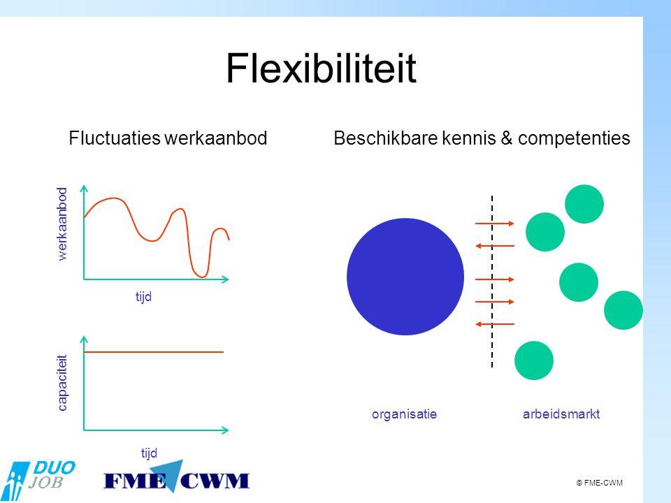 werkaanbod tijd capaciteit Fluctuaties werkaanbod Beschikbare kennis & competenties organisatiearbeidsmarkt Flexibiliteit © FME-CWM