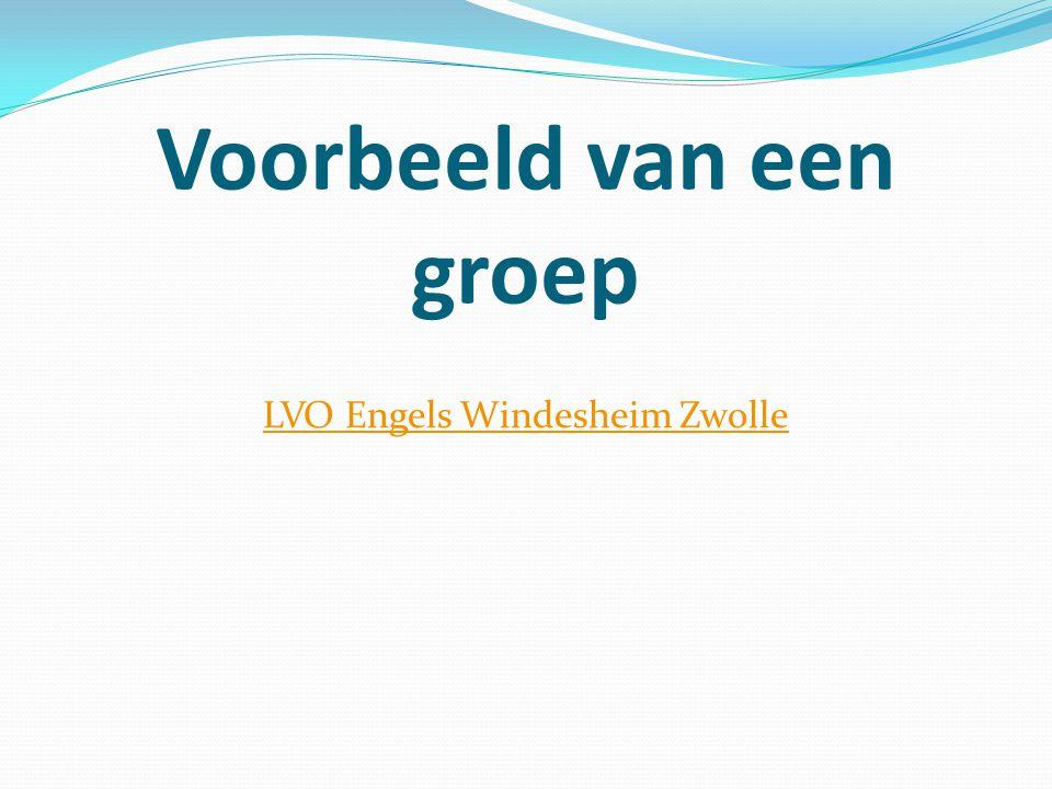 Voorbeeld van een groep LVO Engels Windesheim Zwolle