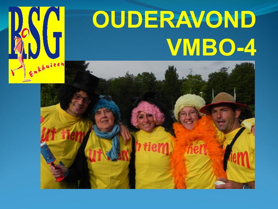 OUDERAVOND VMBO-4 Het CE Engels begint om 9.00 uur.
