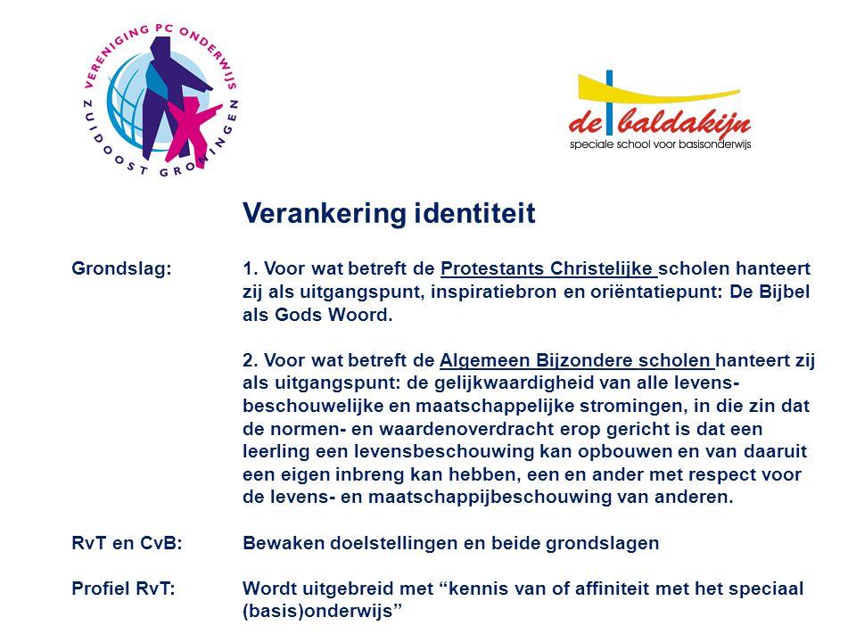 Verankering identiteit Grondslag:1.