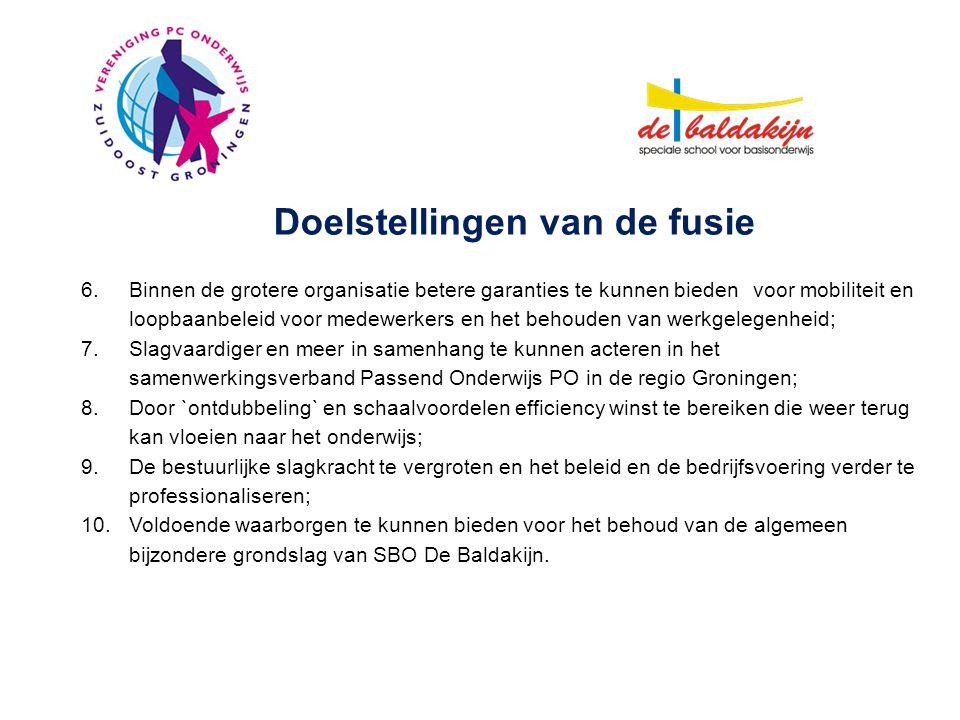 Stuurgroep M.WeverCollege van BestuurVPCO Zuidoost Groningen J.