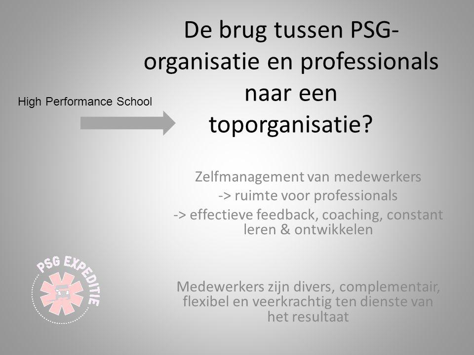 Zelfmanagement van medewerkers -> ruimte voor professionals -> effectieve feedback, coaching, constant leren & ontwikkelen Medewerkers zijn divers, co