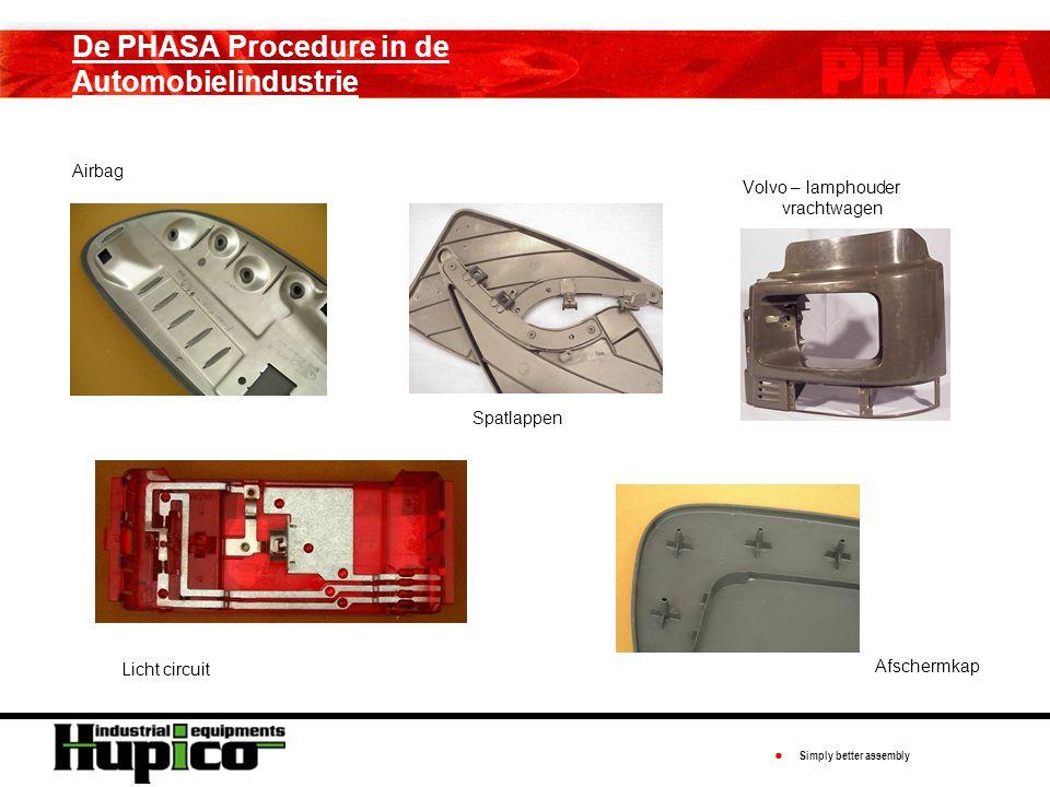 ● Simply better assembly De PHASA Procedure in de Automobielindustrie Airbag Volvo – lamphouder vrachtwagen Spatlappen Licht circuit Afschermkap