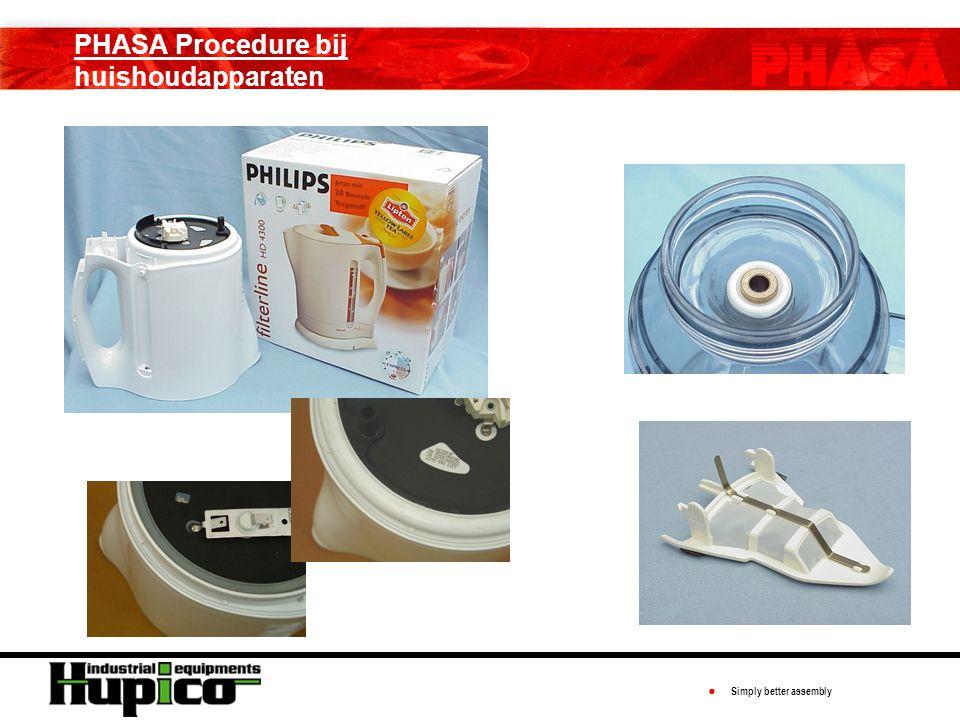 ● Simply better assembly PHASA Procedure bij huishoudapparaten