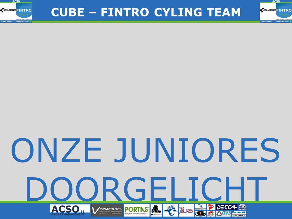 CUBE – FINTRO CYLING TEAM CUBE – FINTRO CYLING TEAM ONZE JUNIORES DOORGELICHT