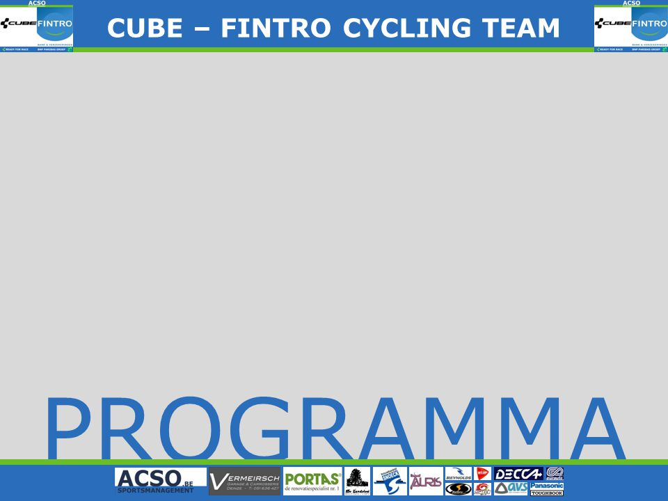 PROGRAMMA CUBE – FINTRO CYLING TEAM CUBE – FINTRO CYCLING TEAM