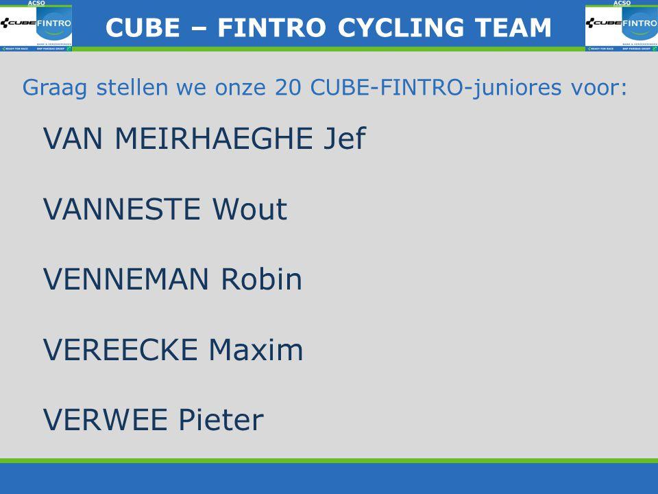 CUBE – FINTRO CYLING TEAM CUBE – FINTRO CYCLING TEAM De trui