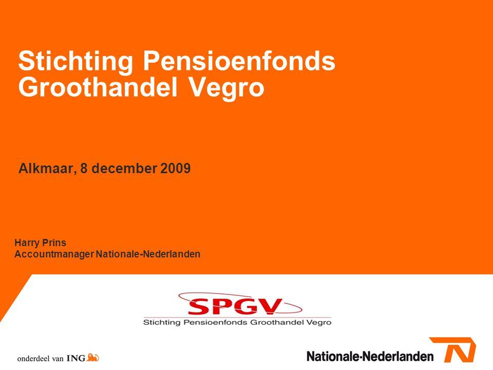 12 De Nederlandsche Bank Volledig herverzekerd pensioenfonds volgens DNB: 1.Verzekeringstechnische- en beleggingsrisico's volledig bij verzekeraar; mogelijkheid aanspraken premievrij achterlaten 2.Nooit meer betalen dan vooraf afgesproken premies 3.De (vermogens)eisen zijn in lijn met de afgegeven garanties door herverzekeraar, dit betekent dat het beleggingsrisico afgedekt dient te zijn 4.Aanhouden van verplichte buffers Garantiecontract van Nationale-Nederlanden voldoet hieraan Toekomstige administratie- en garantiekosten die uit de winstdeling worden onttrokken kunnen nooit hoger zijn dan de winstdeling.