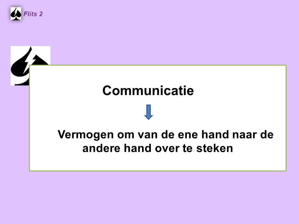 Communicatie Vermogen om van de ene hand naar de andere hand over te steken Flits 2