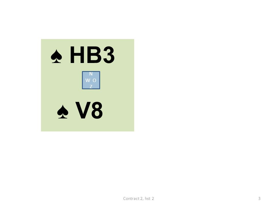 ♠ HB3 ♠ V8 N W O Z 3Contract 2, hst 2