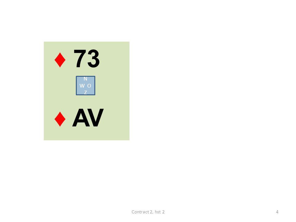 ♦ 73 ♦ AV N W O Z 4Contract 2, hst 2