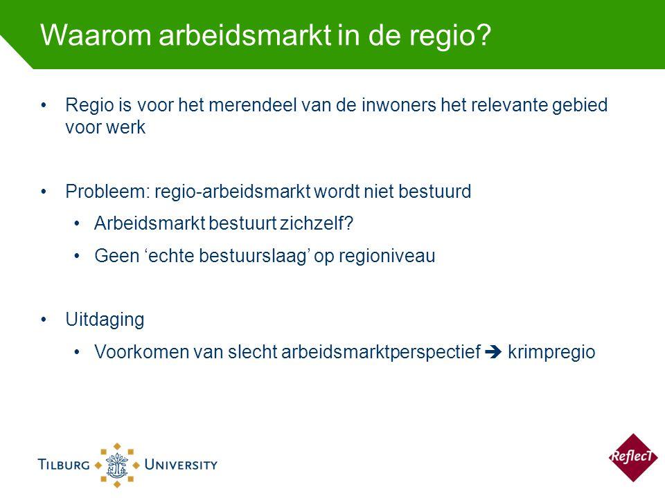 Waarom arbeidsmarkt in de regio.