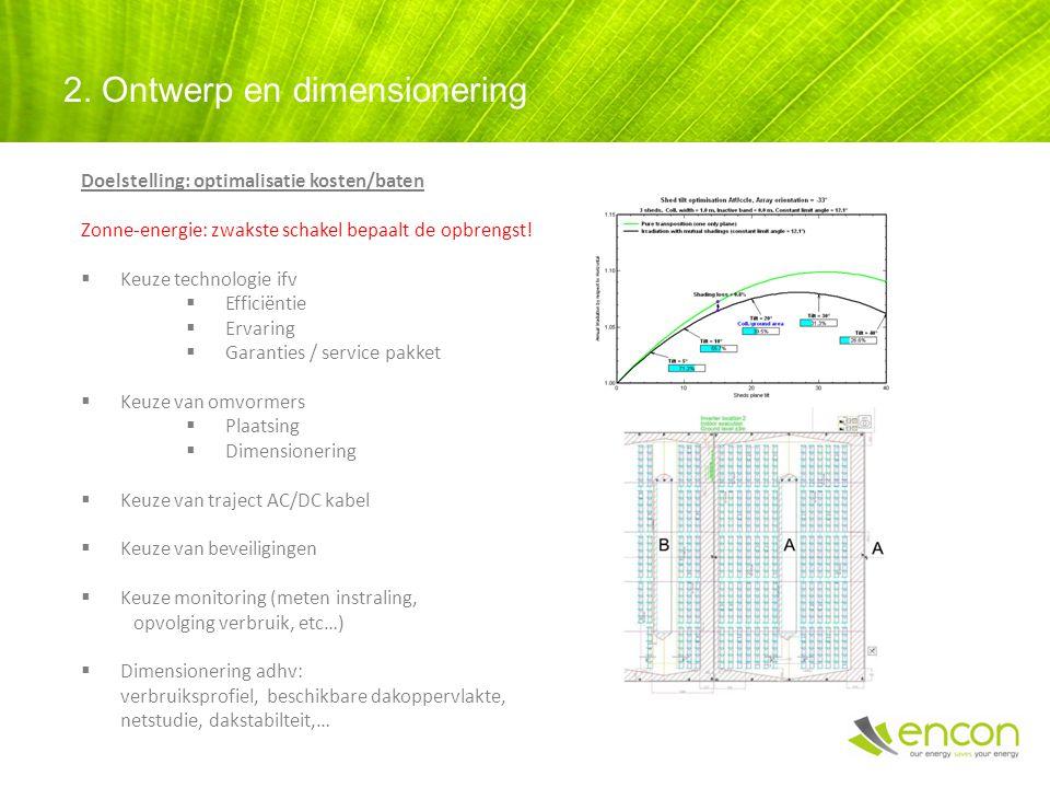 Doelstelling: optimalisatie kosten/baten Zonne-energie: zwakste schakel bepaalt de opbrengst.
