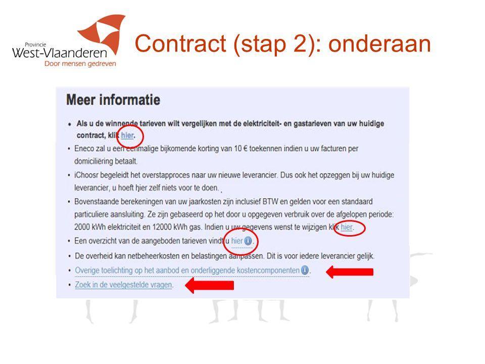 Contract (stap 2): onderaan