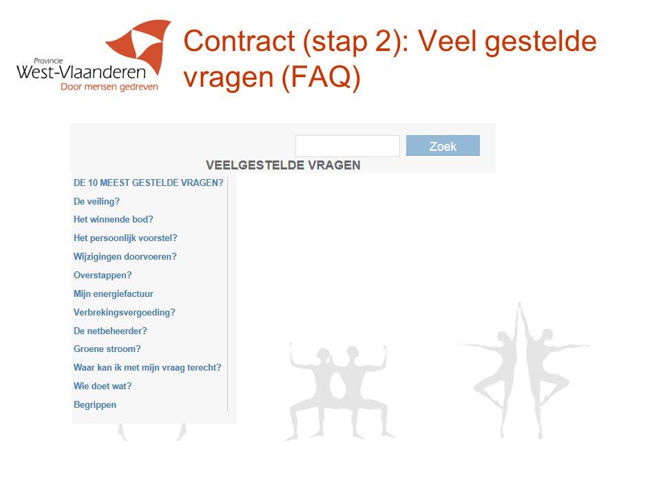 Contract (stap 2): Veel gestelde vragen (FAQ)