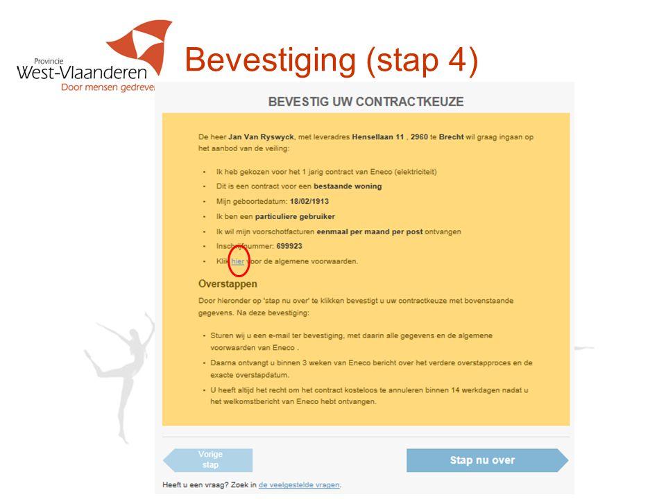 Bevestiging (stap 4)