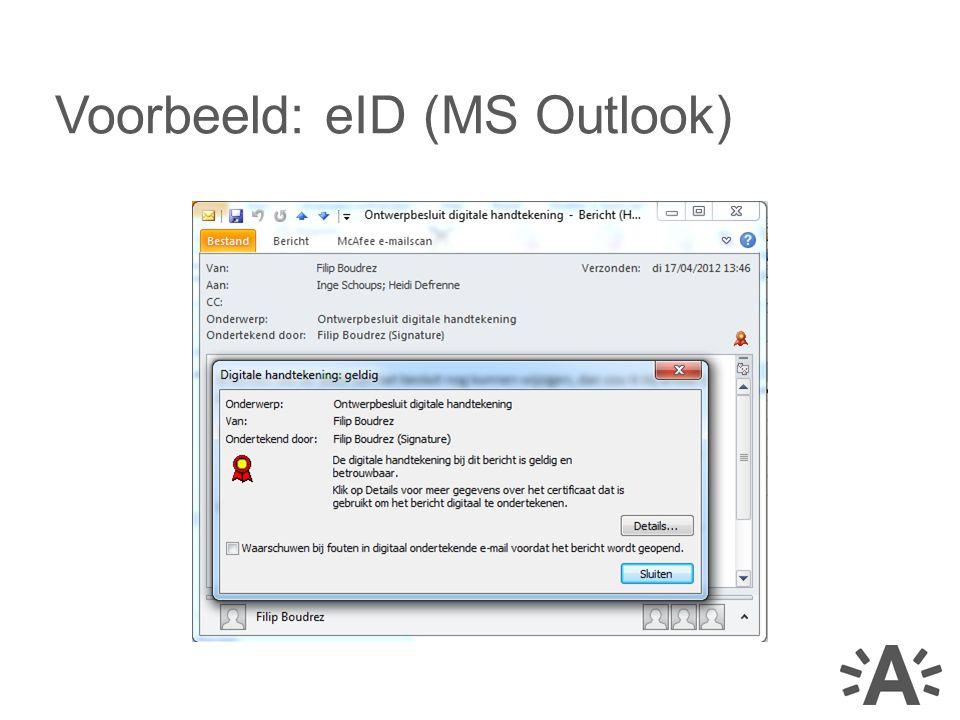 Voorbeeld: eID (MS Outlook)