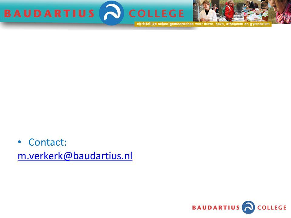 Contact: m.verkerk@baudartius.nl