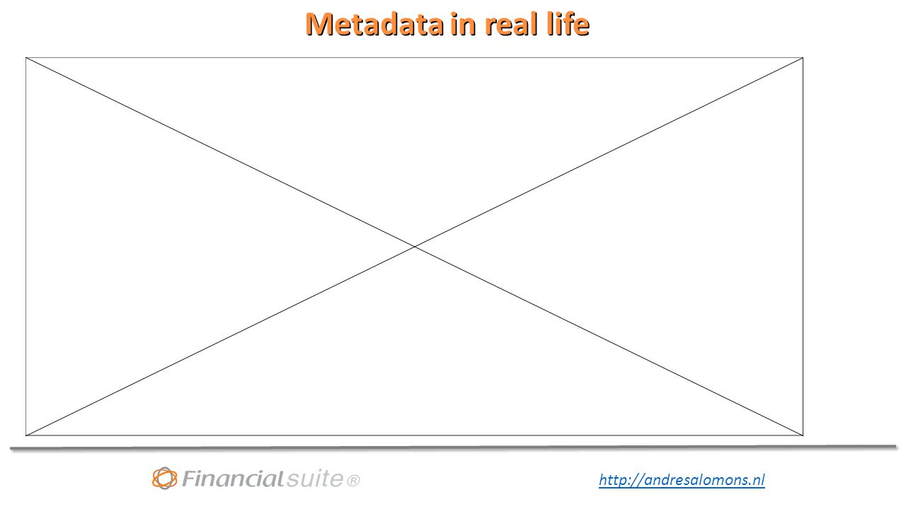 http://andresalomons.nl Metadata in real life